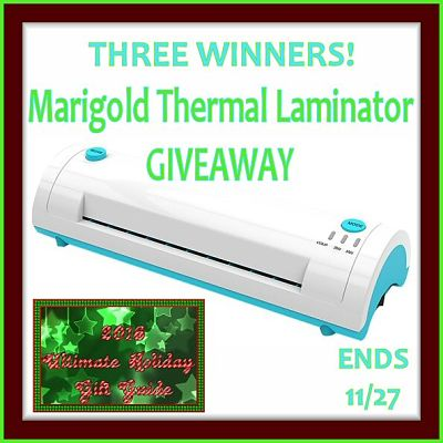 3 Will #Win a Marigold Thermal Laminator When This #Giveaway Ends on Nov 27th