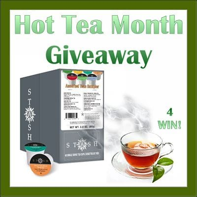 ☕ 4 will #WIN a #DashofStash when this Hot Tea Month #Giveaway ends 1/31 □ Join Me & Enter Too!