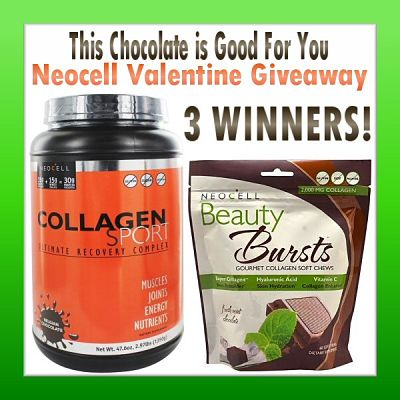 This Chocolate is Good For You Neocell Valentine Giveaway Ends 2/12 ~ 3 Winners ~ TRV $180