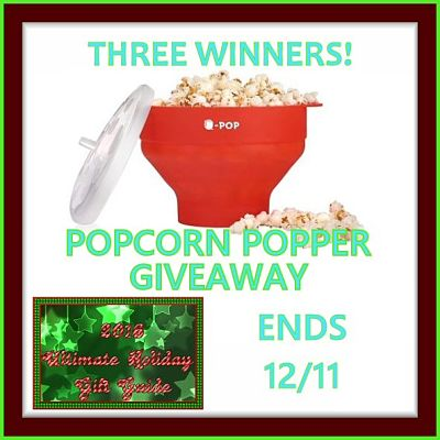 Three lucky readers will #win a #UPOP Silicone Microwave Popcorn Popper when this Ultimate #GiftGuide #Giveaway Ends 12/11 ​