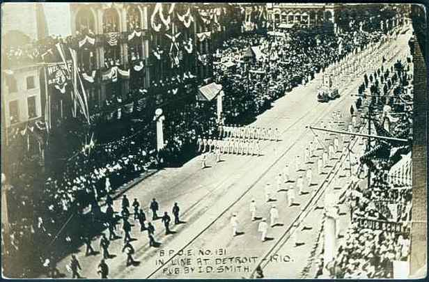 Elks parade, Detroit 1910