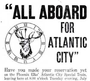 Ad for BPOE Elks Atlantic City 1911