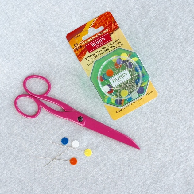 Bohin France Quilting Pins and Sewing Scissors