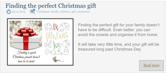 What if the perfect Christmas gift can't be found at the store?