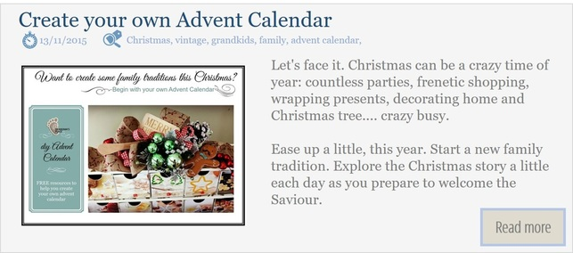 Create some family traditions with your own Advent Calendar