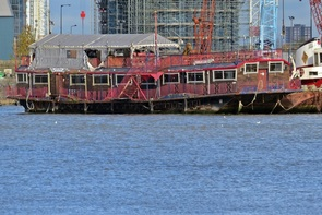 Picture London Regalia (a dead) floating pub, a different kind of Londons lost boozers