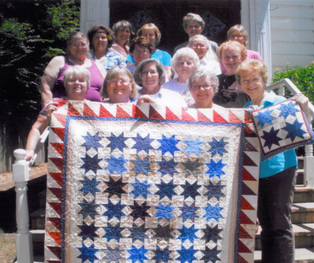 Photo of the Kenwood Quilters group, which meets weekly at Kenwood Community Church in Kenwood, California.
