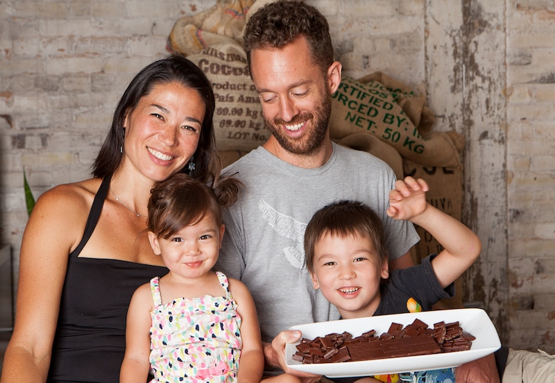 Family co-founders of Xocolatl Chocolate