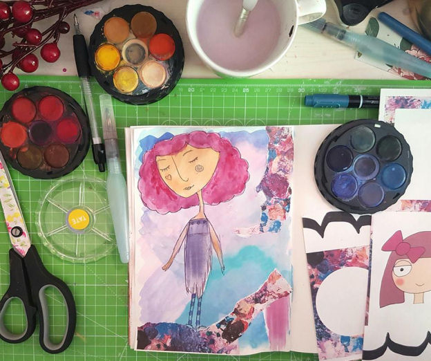 Art and Journaling using Mrs Brimbles Patreon Resources - Kerrymay._.Makes